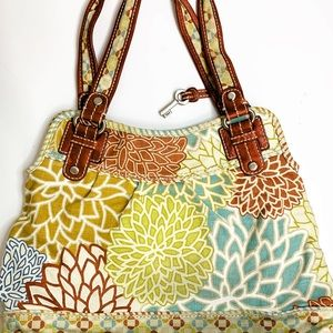 Fossil Large Canvas Colorful Tote CLEAN